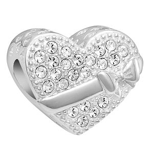 Chamilia Sterling Silver Crystal J'Adore Heart Bead - Product number 2146126