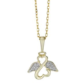 Open Hearts Angels By Jane Seymour 9ct Yellow Gold Pendant - Product number 2148005