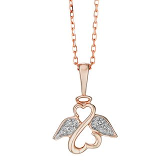 Open Hearts Angels By Jane Seymour Rose Gold Diamond Pendant - Product number 2148021