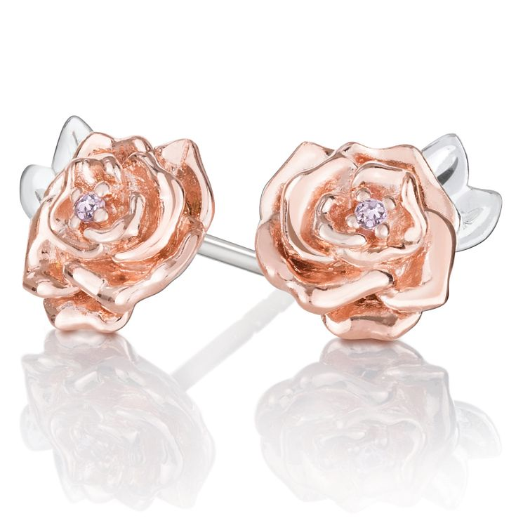 Chamilia Disney Beauty and the Beast Belle Rose Earrings - Product number 2148080