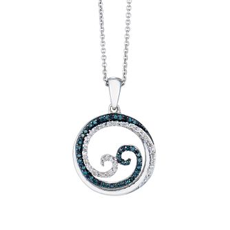 Open Hearts Waves By Jane Seymour Silver & Diamond Pendant - Product number 2148102