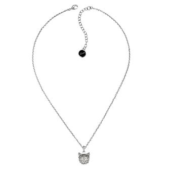 Karl Lagerfeld Swarovski Choupette Rhodium Plated Necklace - Product number 2158183