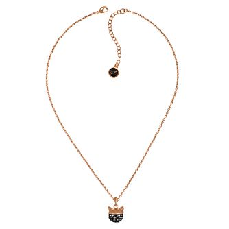 Karl Lagerfeld Swarovski Choupette Rose Gold Plated Necklace - Product number 2158566