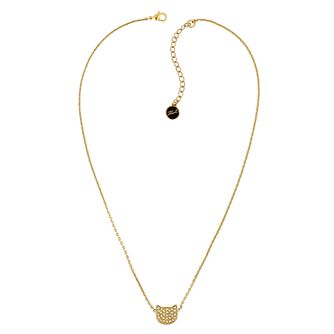 Karl Lagerfeld Swarovski Choupette Gold Plated Necklace - Product number 2158639