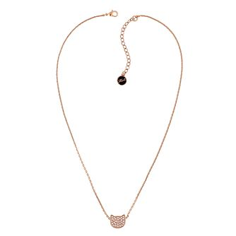 Karl Lagerfeld Swarovski Choupette Rose Gold Plated Necklace - Product number 2160145