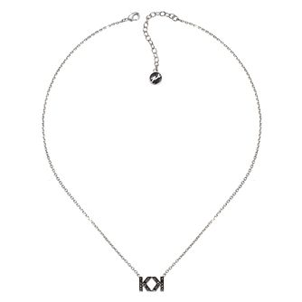 Karl Lagerfeld Swarovski Double K Gunmetal Plated Necklace - Product number 2161257