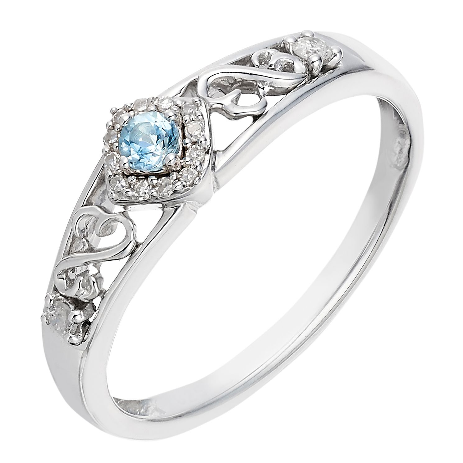 stone diamond bezel topaz solitaire detailing three set blue ring rings halo cushion aaa with wg swiss milgrain