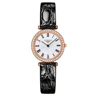 Longines La Grande Classique 18ct Rose Gold Diamond Watch - Product number 2162520