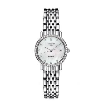 Longines Elegant Ladies' Diamond Mother of Pearl Watch - Product number 2162679