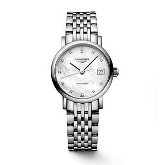 Longines Elegant Ladies' Diamond Bracelet Watch - Product number 2162695