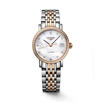 Longines Elegant ladies' two colour bracelet watch - Product number 2162717