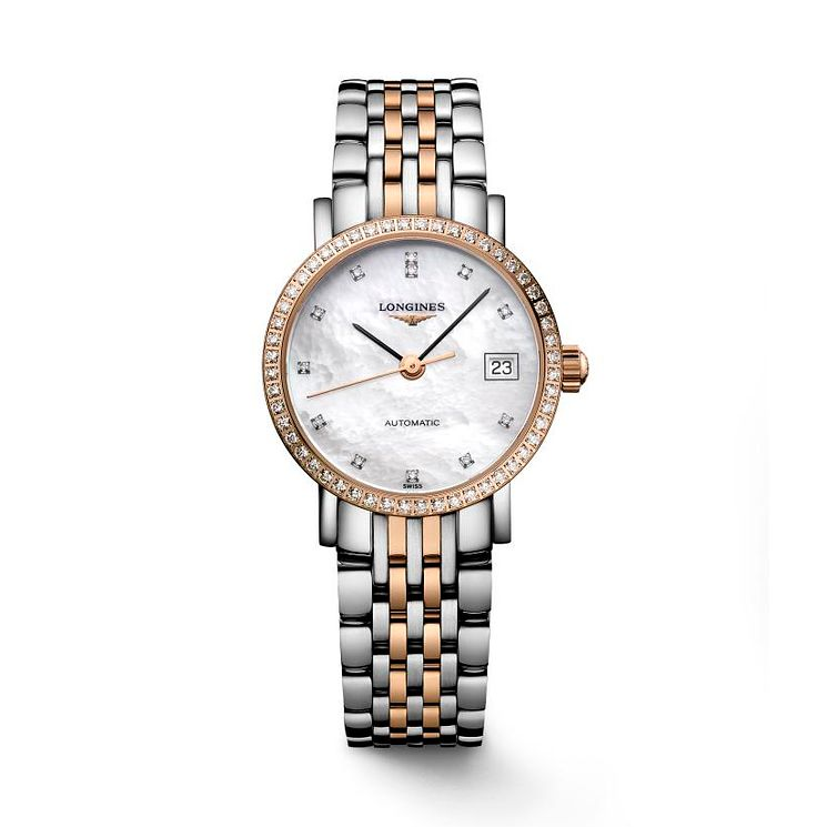 Longines Elegant Ladies' Diamond Mother of Pearl Watch - Product number 2162717