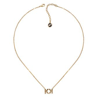Karl Lagerfeld Swarovski Double K Gold Plated Necklace - Product number 2164205