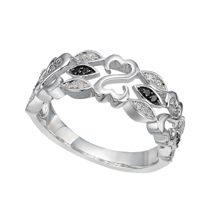 Open Hearts By Jane Seymour Silver & Diamond Ring - Product number 2164388
