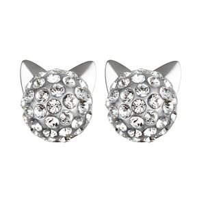 Karl Lagerfeld Crystal Choupette Rhodium Plated Earrings - Product number 2165503