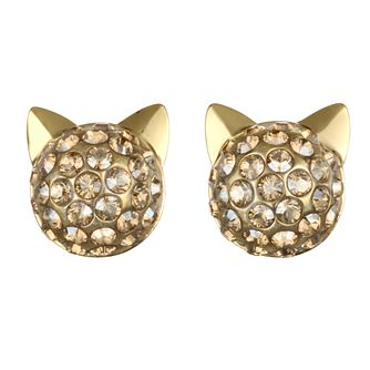 Karl Lagerfeld Crystal Choupette Gold Plated Earrings - Product number 2165651