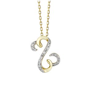 Open Hearts By Jane Seymour 9ct Yellow Gold Diamond Pendant - Product number 2166216