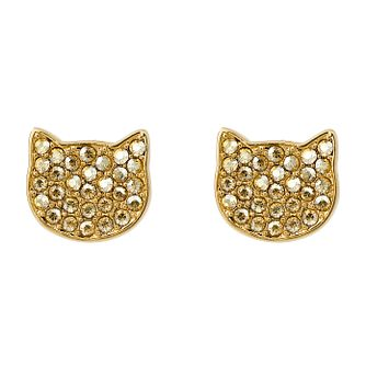 Karl Lagerfeld Swarovski Choupette Gold Plated Earrings - Product number 2166267