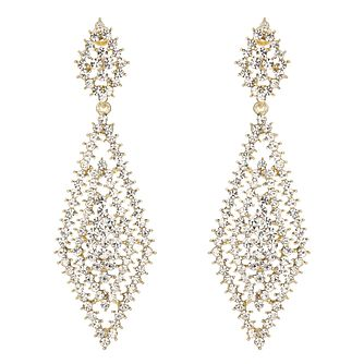 Mikey Gold Tone Filigree Net Statement Earrings - Product number 2166372