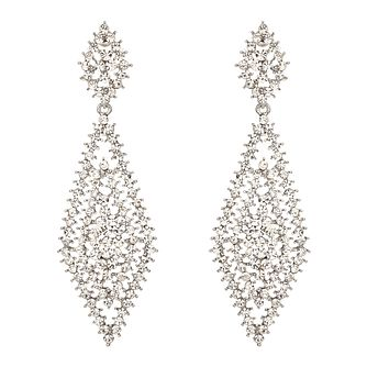 Mikey Silver Tone Filigree Net Statement Earrings - Product number 2166380
