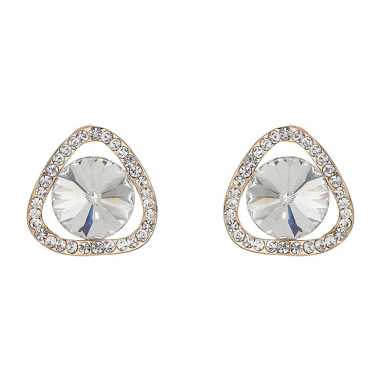 Mikey Clear Stone Twist Triangle Stud Earrings - Product number 2166437