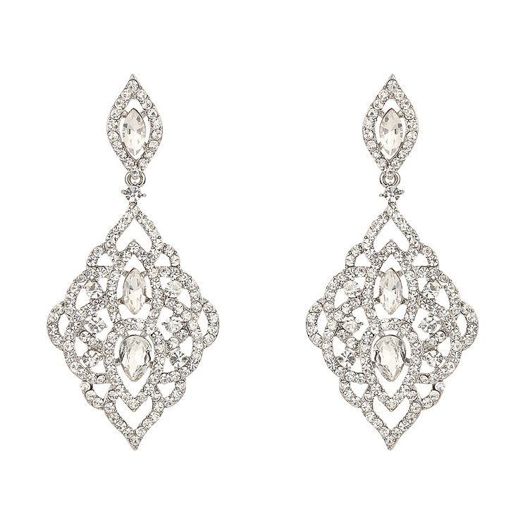 Mikey Vintage Filigree Crystal Drop Earrings - Product number 2166518