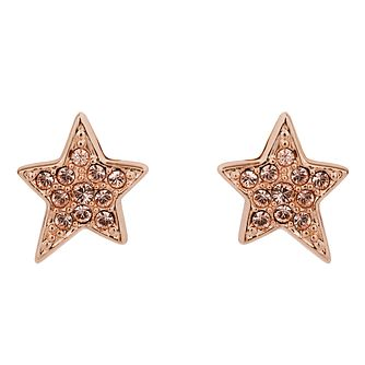 Karl Lagerfeld Swarovski Star Rose Gold Plated Stud Earrings - Product number 2166577