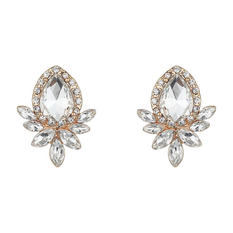 Mikey Teardrop Crystal Stud Earrings - Product number 2166879