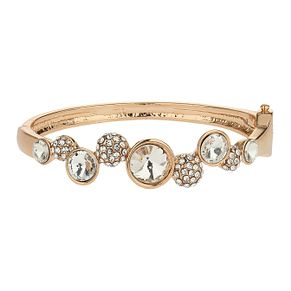 Mikey Stone Set Gold Tone Crystal Ball Lock Cuff - Product number 2167042