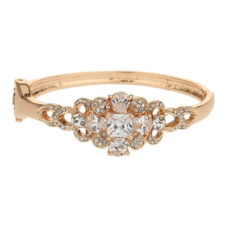Mikey Crystal Gold Tone Bangle Bracelet - Product number 2167077