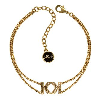 Karl Lagerfeld Swarovski Double K Gold Plated Bracelet - Product number 2170604