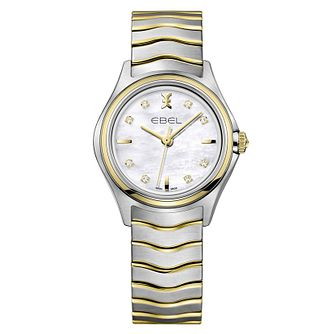 Ebel ladies' mother of pearl dial two colour bracelet watch - Product number 2173468