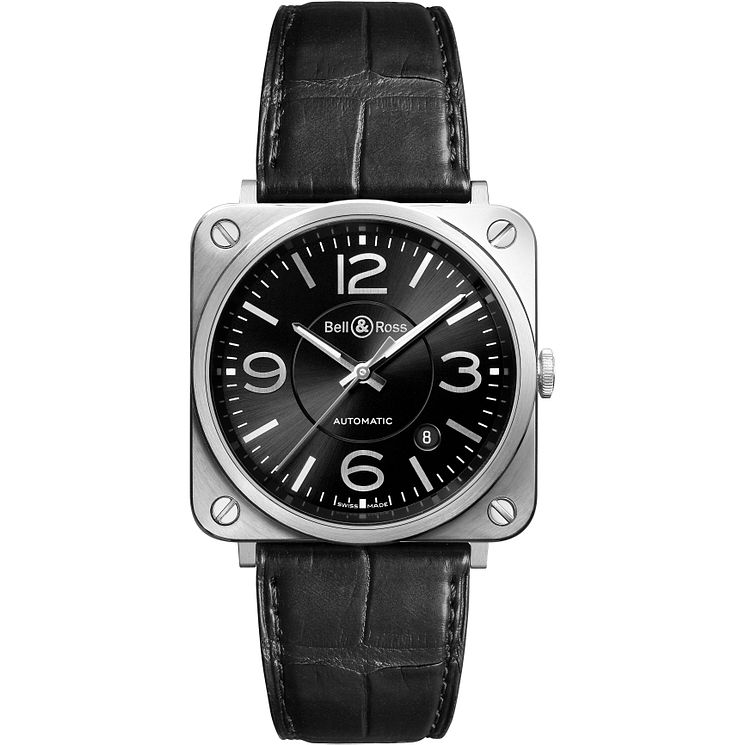 Bell and Ross men's black leather strap watch - Product number 2174936