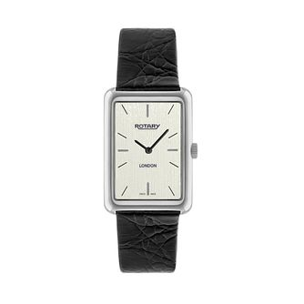 Rotary men's black leather strap watch - Product number 2174979