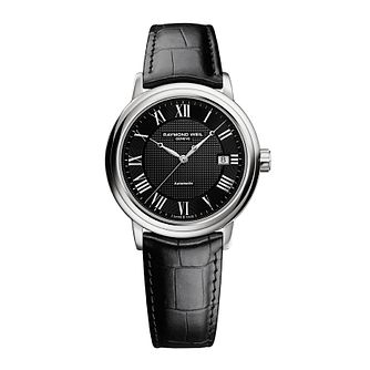 Raymond Weil Maestro black leather strap watch - Product number 2175096