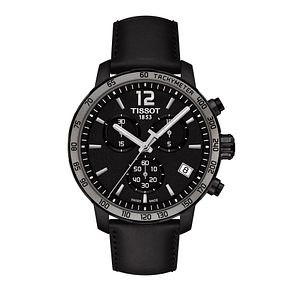 Tissot men's black leather strap watch - Product number 2175592