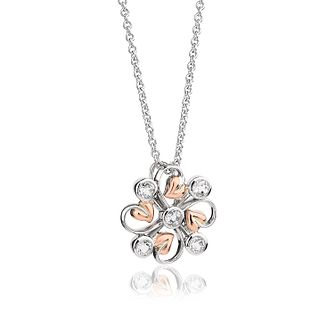 Clogau Tree Of Life Clover Silver, Rose Gold & Topaz Pendant - Product number 2176173