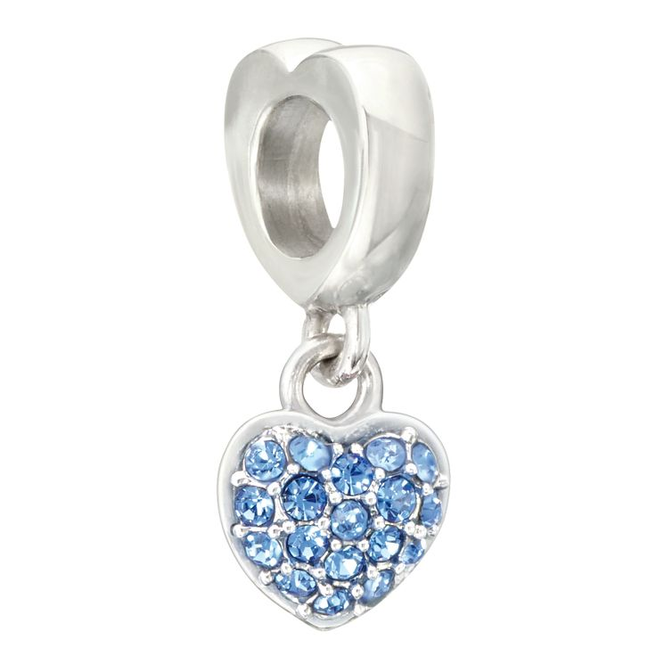 Chamilia Silver Blue Swarovski Crystal Heart Bead - Product number 2177528