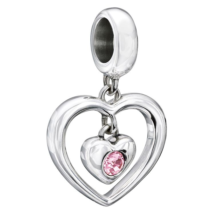 Chamilia Silver Pink Swarovski Crystal Heart Bead - Product number 2177692