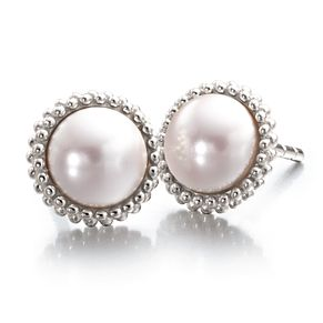 Chamilia Silver Swarovski Crystal Pink Pearl Earrings - Product number 2178311