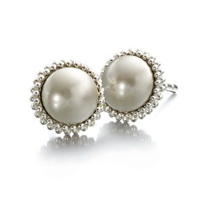Chamilia Silver & Swarovski Crystal Peal Stud Earrings - Product number 2178338