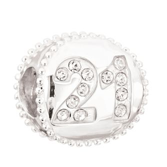 Chamilia Silver Swarovski Crystal 21st Birthday Bead - Product number 2178443