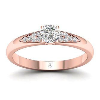 The Diamond Story 18ct Rose Gold 0.3ct Diamond Ring - Product number 2179563