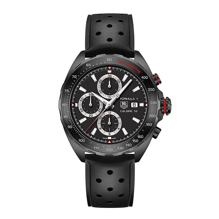 Tag Heuer F1 men's black leather strap watch - Product number 2179806