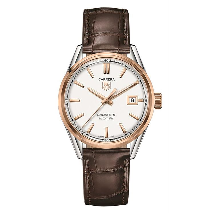 Tag Heuer Carrera men's brown leather strap watch - Product number 2180006