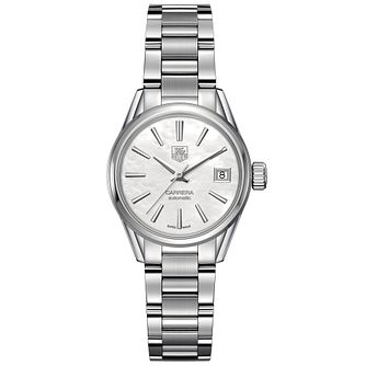TAG Heuer Carrera ladies' stainless steel bracelet watch - Product number 2180030