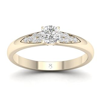 The Diamond Story 18ct Yellow Gold 0.3ct Diamond Ring - Product number 2180103