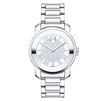 Movado Bold ladies' stainless steel pave set bracelet watch - Product number 2180618
