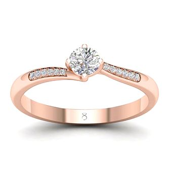 The Diamond Story 18ct Rose Gold 0.3ct Diamond Ring - Product number 2180782