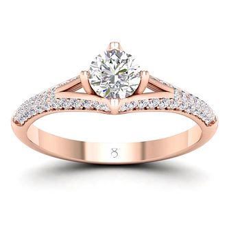 The Diamond Story 18ct Rose Gold 3/4ct Diamond Ring - Product number 2181282